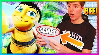 "Reading The Entire Bee Movie Script But Everytime They Say ""Bee"" I Repeat All the Previous Bees"