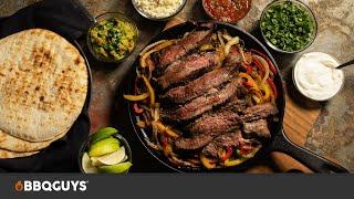 Steak Fajitas Recipe | Grilled on The Primo Kamado Charcoal Grill | BBQGuys