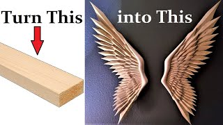 How -To Carve Wings From Pine 2X4's