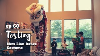 KIDS HOMEMADE LION DANCE (múa lân, 舞狮) SHOW   TESTING NEW LION DANCE COSTUME FROM VIETNAM