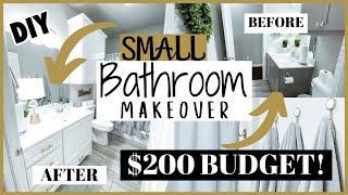 DIY SMALL BATHROOM MAKEOVER ON A BUDGET | SMALL BATHROOM MAKEOVER 2020 | GLAM BATHROOM MAKEOVER