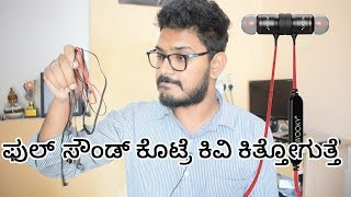 Wooky in-Ear Earphone review |Kannada video