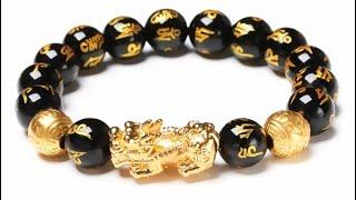 Feng Shui Genuine Black Obsidian Wealth Bracelet
