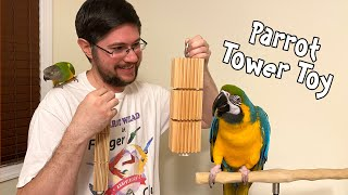 Parrot Tower Toy - Groovy Bird Toy