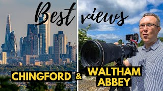Best views of LONDON SKYLINE from the hills of Chingford and Waltham Abbey