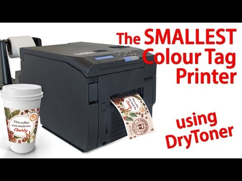 DTM CX86e Colour Tag Printer - SMALLEST LED DRY TONER Printer
