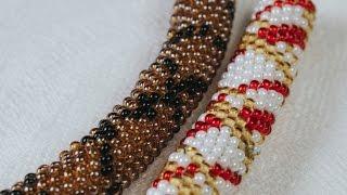 Плетение шнура из бисера иглой