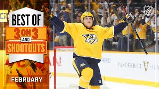 Best 3-on-3 Overtime and Shootout Moments from February | NHL