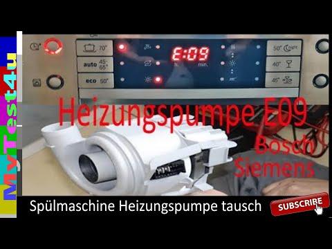 E09 Spühlmaschine Austausch Heizungspumpe