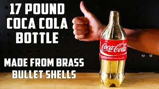 Casting a Solid Brass Coca-Cola Bottle from empty bullet shells - Video Youtube