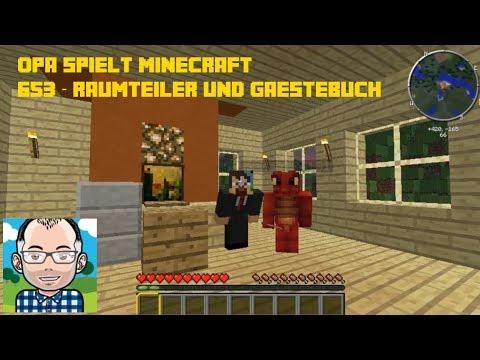 Opa spielt Minecraft 653 -- Raumteiler und Gästebuch (SG6)