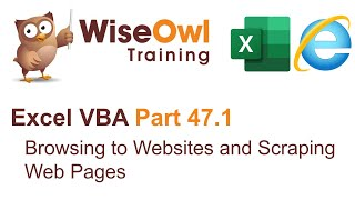 Excel VBA Introduction Part 47.1 - Browsing to Websites and Scraping a Web Page