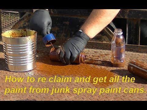 How to get the most paint out of spray paint cans even if they stop working before empty.