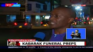 Rest In Peace Moi: Kabarak funeral preparation