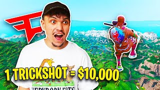 First to Hit a Trickshot Wins $10,000 (Fortnite Challenge w/ Brother)