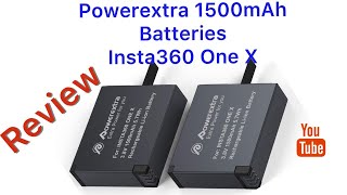 Powerextra 1500mAh Batteries for Insta360 One X