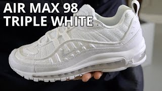 Nike Air Max 98 Triple White Review / Unboxing / On Feet Look