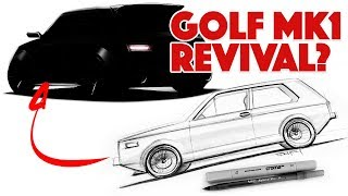 Sketching a modern day Golf MK1 type hatch from scratch