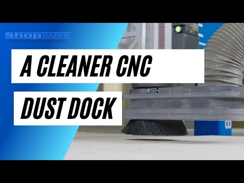 ShopSabre CNC Dust Dock Dust Collection Attachmentvideo thumb