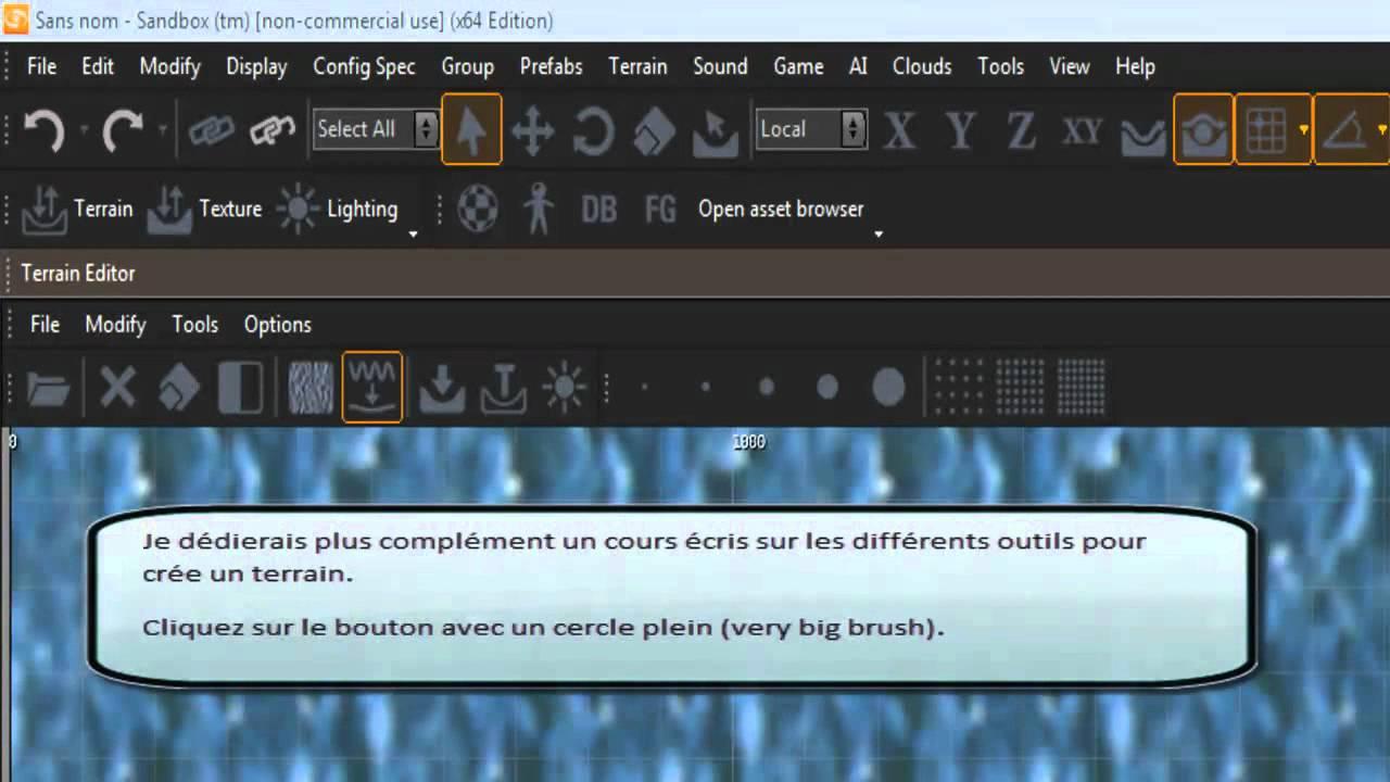 Cry Engine 3 Cours 01 : Création d'une ile réel partie 1.
