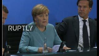 LIVE: Merkel hosts European leaders meeting ahead of G20 - Press conference