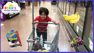 Kid Size Grocery Shopping trip and learn how to count! Ryan