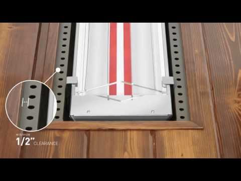 How to Flush Mount Infratech Heaters