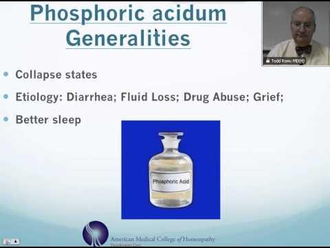 Video Phosphoric Acidum: Homeopathic Medicine -Tips For Beginners