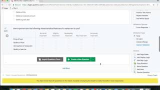 Detailed Questions in Qualtrics