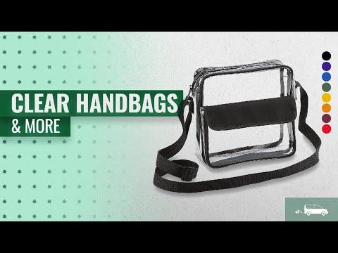 Top 10 Clear Handbags & More: Clear Crossbody Messenger Shoulder Bag With Adjustable Strap NFL