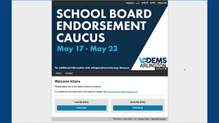 How to vote in the School Board Endorsement Caucus