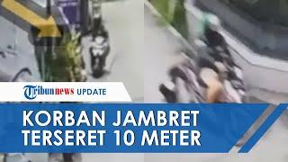 Viral Video Detik-detik Pria Berhelm Ojol Jambret Wanita di Bandung, Korban Terseret hingga 10 Meter