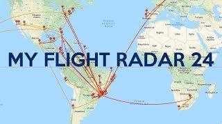 Veja TODOS os SEUS VOOS com o FLIGHT RADAR 24!!!