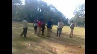 Tappu sena playing cricket