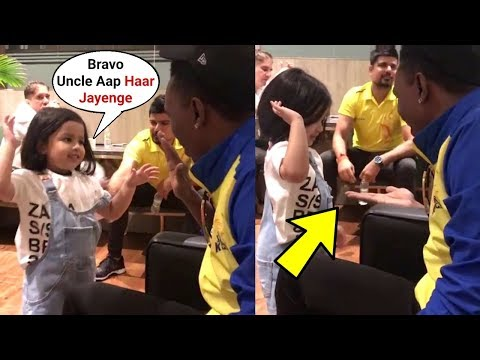 Ms Dhoni Daughter Ziva Dhoni Playing With Bravo