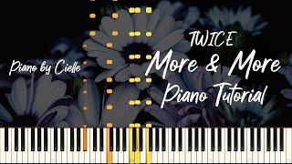 트와이스 MORE & MORE 피아노 튜토리얼