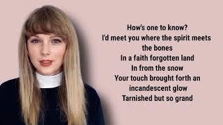Taylor Swift - ivy lyrics