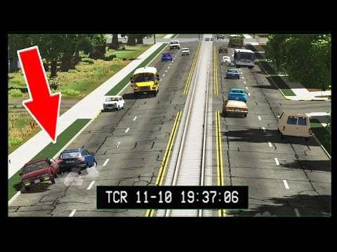 Road Accidents CCTV camera Edition #3 BeamNG DRIVE