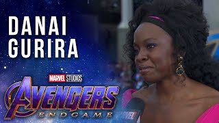 Danai Gurira talks working with the surviving Avengers LIVE from the Avengers: Endgame Premiere