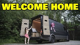 We built an off grid sprinter camper van for our homeless assistant, and the police showed up