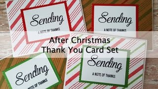 After Christmas Thank You Card Set