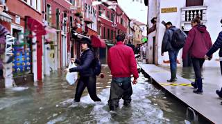From Railway Station to Rialto Bridge - Venice - High Water - 150 cm