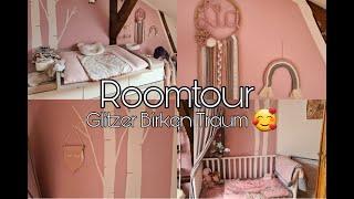 Babyzimmer Roomtour | Rosa Glitzer Birken Traum