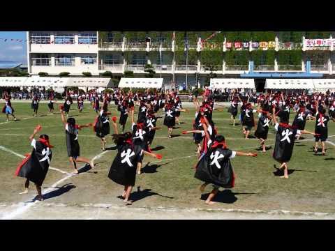 竜王南小学校 風林火山