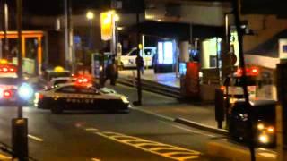 駅で喧嘩、警察介入