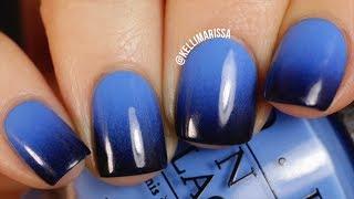 DIY Blue To Black Gradient Nail Art Design (easy!) || KELLI MARISSA
