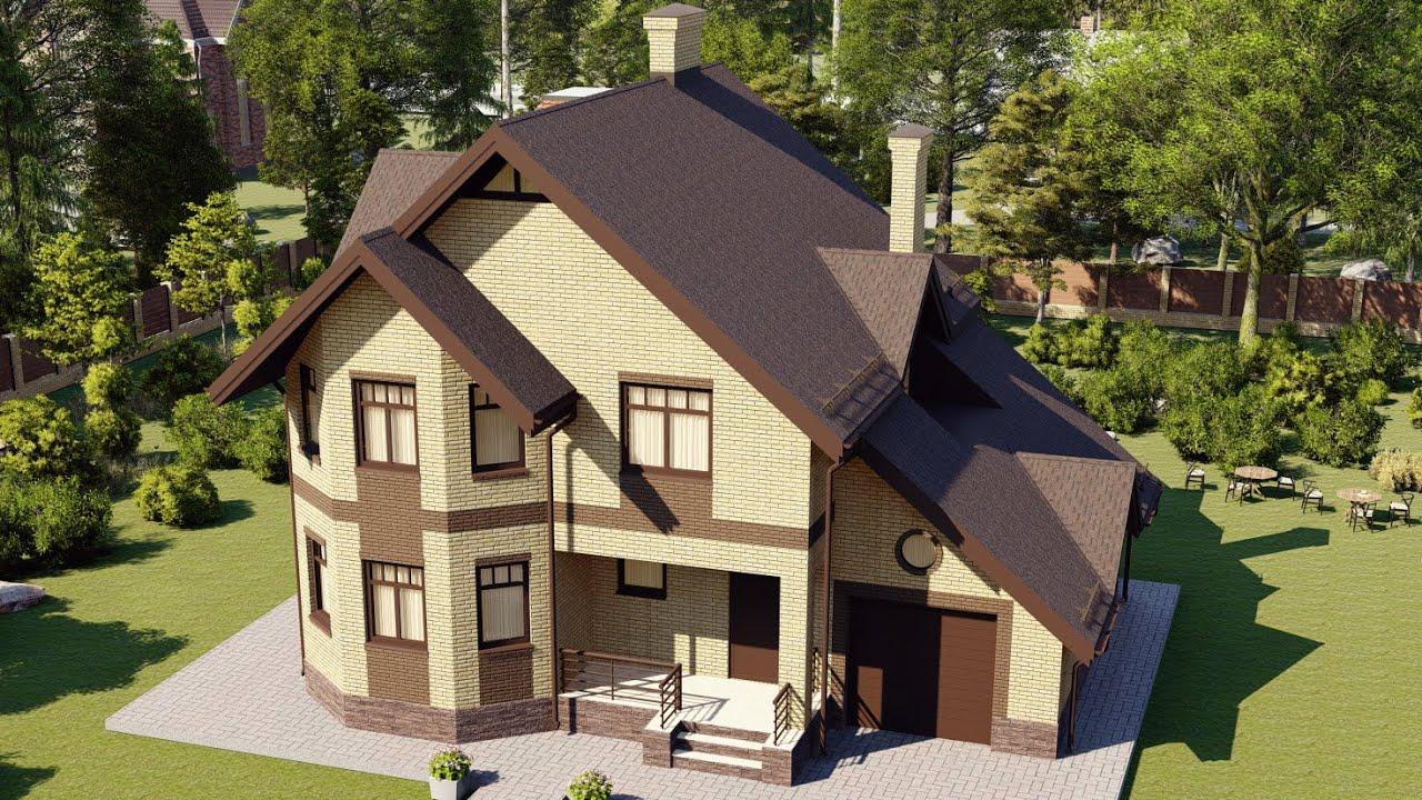 Проекты домов с мансардой от 200 метров