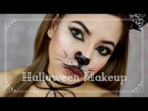 Halloween Kitty Cat Makeup Tutorial - ELLAsDaily