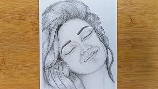 How To Draw A Girl Silly Happy Faces With Pencil Sketch