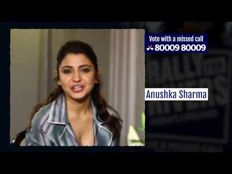 Anushka Sharma, Female Actor for Rally for Rivers